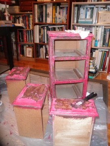 "Before picture of what I call ""Little Sister""  It was hot pink with knobs that had little poodles on it!  Yikes!"